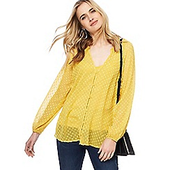 Nine by Savannah Miller - Dark yellow dobby top