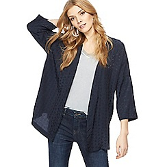 Nine by Savannah Miller - Navy textured star kimono