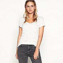 Nine by Savannah Miller - White star embroidered t-shirt
