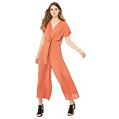 Nine by Savannah Miller - Terracotta knot front detail jumpsuit