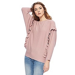 Nine by Savannah Miller - Pink frilled batwing jumper