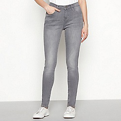 Nine by Savannah Miller - Pale grey mid wash cotton blend slim fit skinny jeans