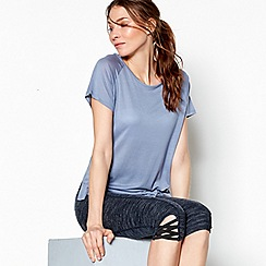 Nine by Savannah Miller - Blue cowl back t-shirt
