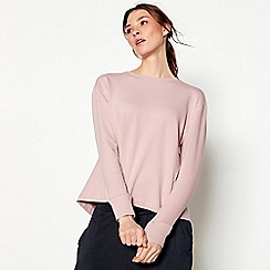 Nine by Savannah Miller - Pink pleated back sweatshirt