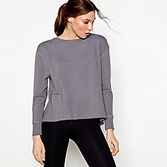 Nine by Savannah Miller - Dark grey pleated back sweatshirt