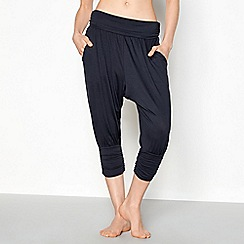 Nine by Savannah Miller - Dark blue jersey cropped yoga pants