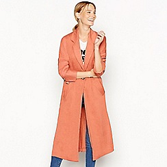 Nine by Savannah Miller - Rose textured finish longline duster coat