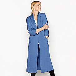 Nine by Savannah Miller - Blue textured finish longline duster coat