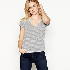 Nine by Savannah Miller - Multi-coloured stripe print V-neck t-shirt