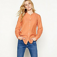 Nine by Savannah Miller - Orange long sleeve blouse