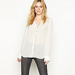 Nine by Savannah Miller - Cream gold star embroidered blouse