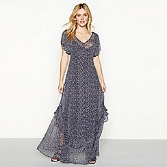 Nine by Savannah Miller - Dark blue floral print maxi dress