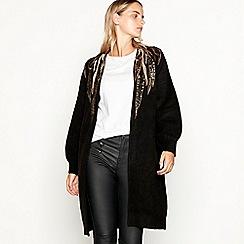 Nine by Savannah Miller - Black sequin feather coatigan