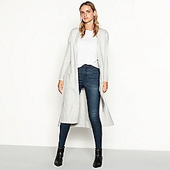 Nine by Savannah Miller - Grey knitted longline cardigan
