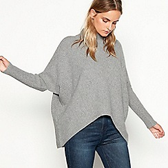 Nine by Savannah Miller - Grey knitted funnel neck jumper
