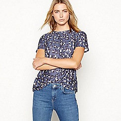 Nine by Savannah Miller - Blue leopard print T-shirt