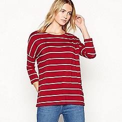 Nine by Savannah Miller - Red stripe print T-shirt