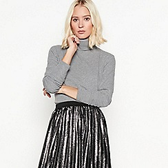 Nine by Savannah Miller - Grey sparkle roll neck jumper