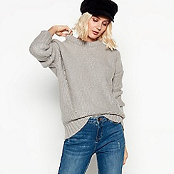 Nine by Savannah Miller - Grey Metallic Fleck Jumper