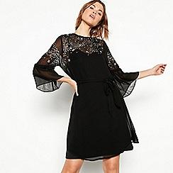 Nine by Savannah Miller - Black star embroidered chiffon mini dress