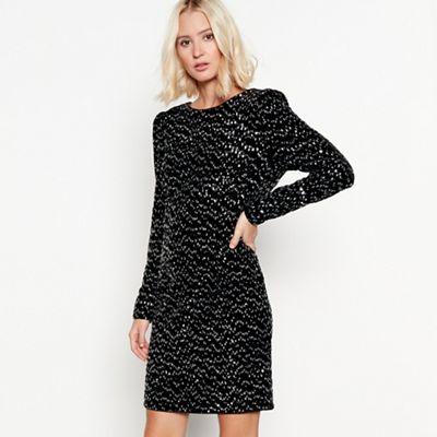 4edf9394c0 Nine by Savannah Miller Black sequined dress