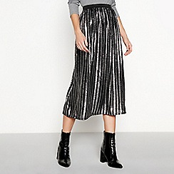 Nine by Savannah Miller - Silver sequin stripe midi skirt