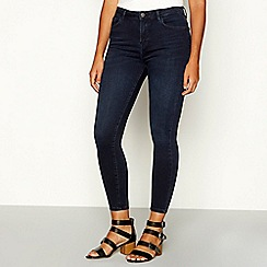 Nine by Savannah Miller - Dark blue dark wash high waisted skinny jeans