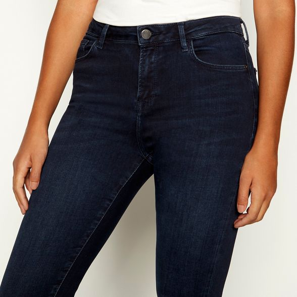 Nine Miller Savannah Dark dark by high jeans blue waisted wash skinny qwUE1qrx