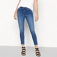 Nine by Savannah Miller - Mid blue high waist skinny jeans