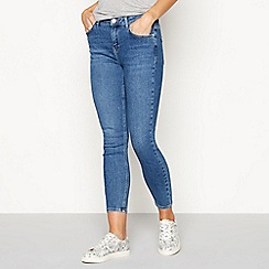 Nine by Savannah Miller - Dark blue 'Twill' high waist skinny jeans