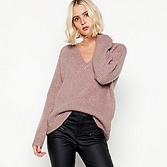 Nine by Savannah Miller - Mauve Chunky Knit Jumper