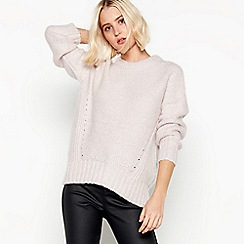 Nine by Savannah Miller - Pale Pink Metallic Fleck Jumper