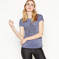 Nine by Savannah Miller - Blue Beaded Star T-Shirt