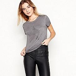 Nine by Savannah Miller - Grey Beaded Star T-Shirt