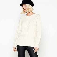 Nine by Savannah Miller - Ivory Cable Knit Jumper