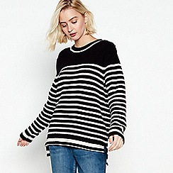 Nine by Savannah Miller - Black Striped Jumper