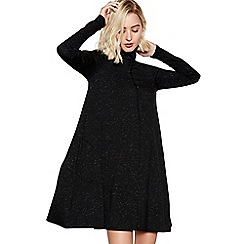 Nine by Savannah Miller - Black Flecked Mini Swing Dress