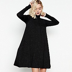 Nine by Savannah Miller - Black Flecked Mini Swing Dress