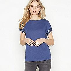 Nine by Savannah Miller - Blue Sequinned T-Shirt