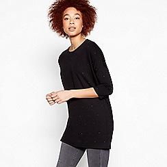 Nine by Savannah Miller - Black Oversized Embellished Tunic Top
