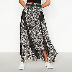 Nine by Savannah Miller - Multicoloured Floral Spot Print High Low Skirt