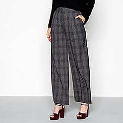 J by Jasper Conran - Grey checked wide leg trousers