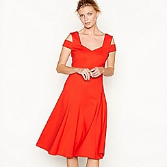 J by Jasper Conran - Red double strap V-neck knee length skater dress