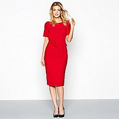 J by Jasper Conran - Red knee length pencil dress