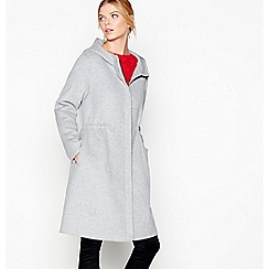 J by Jasper Conran - Grey wool blend parka coat