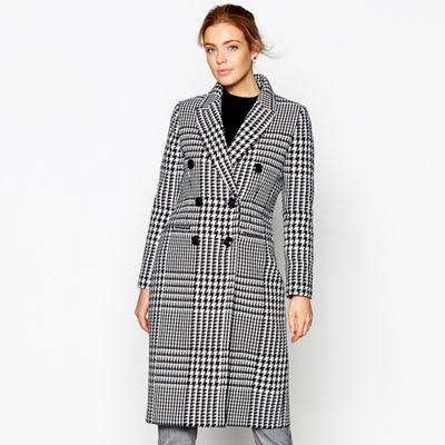 J by Jasper Conran Black and white check wool blend coat | Debenhams