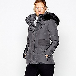 J by Jasper Conran - Khaki feather and down padded coat