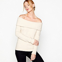 J by Jasper Conran - Cream Bardot jumper with wool