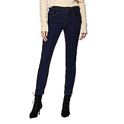 J by Jasper Conran - Dark blue 'Shape and Lift' high-waisted straight leg jeans