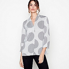 J by Jasper Conran - Ivory spot print long sleeves top